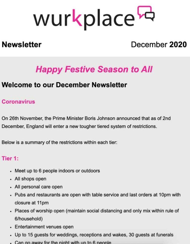 December 20 Newsletter